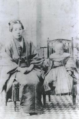 土光敏夫氏と母 登美氏